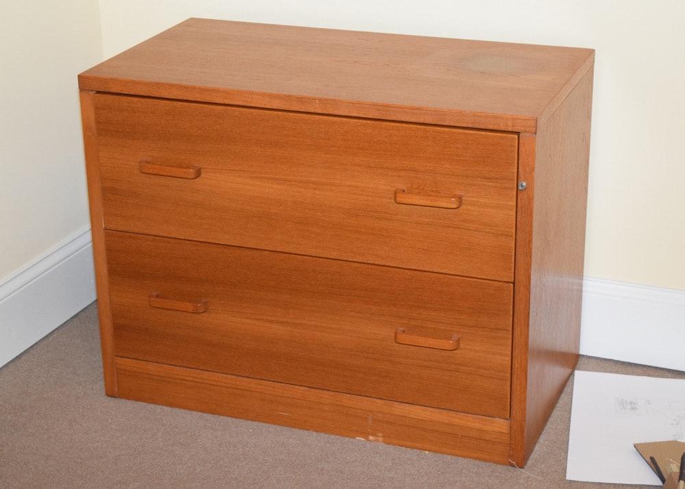 Charmant Teak File Cabinet