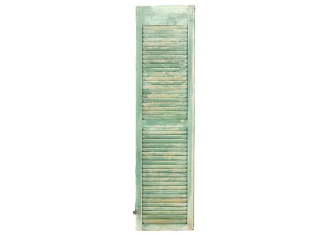 Vintage Green Painted Wooden Shutter