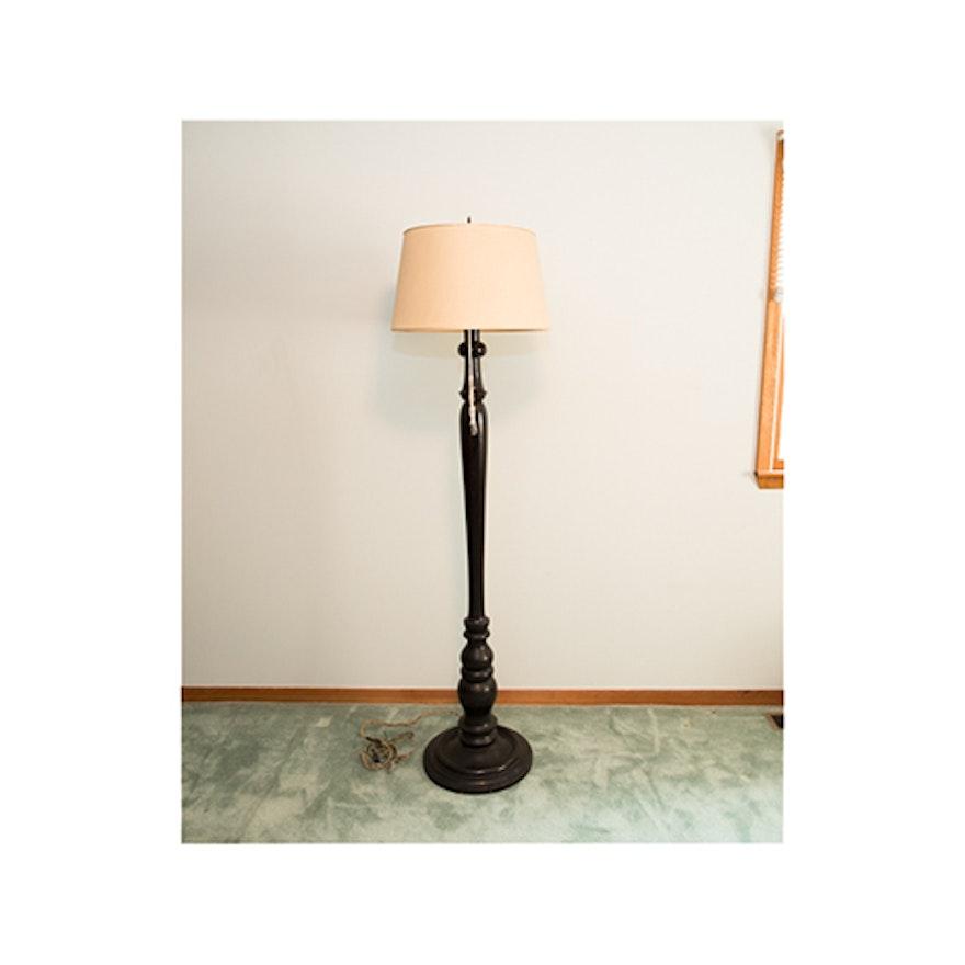 Antique Wood Floor Lamp Ebth