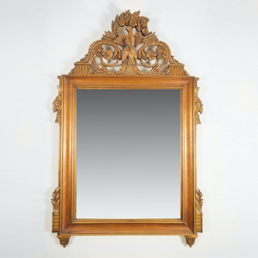 Vintage Wooden Wall Mirror By Gardner
