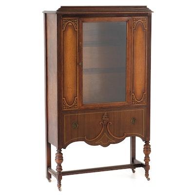 Circa 1920 Walnut Veneer Cabinet - Online Furniture Auctions Vintage Furniture Auction Antique