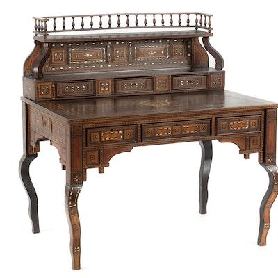 Moroccan Inlaid Desk - Online Furniture Auctions Vintage Furniture Auction Antique