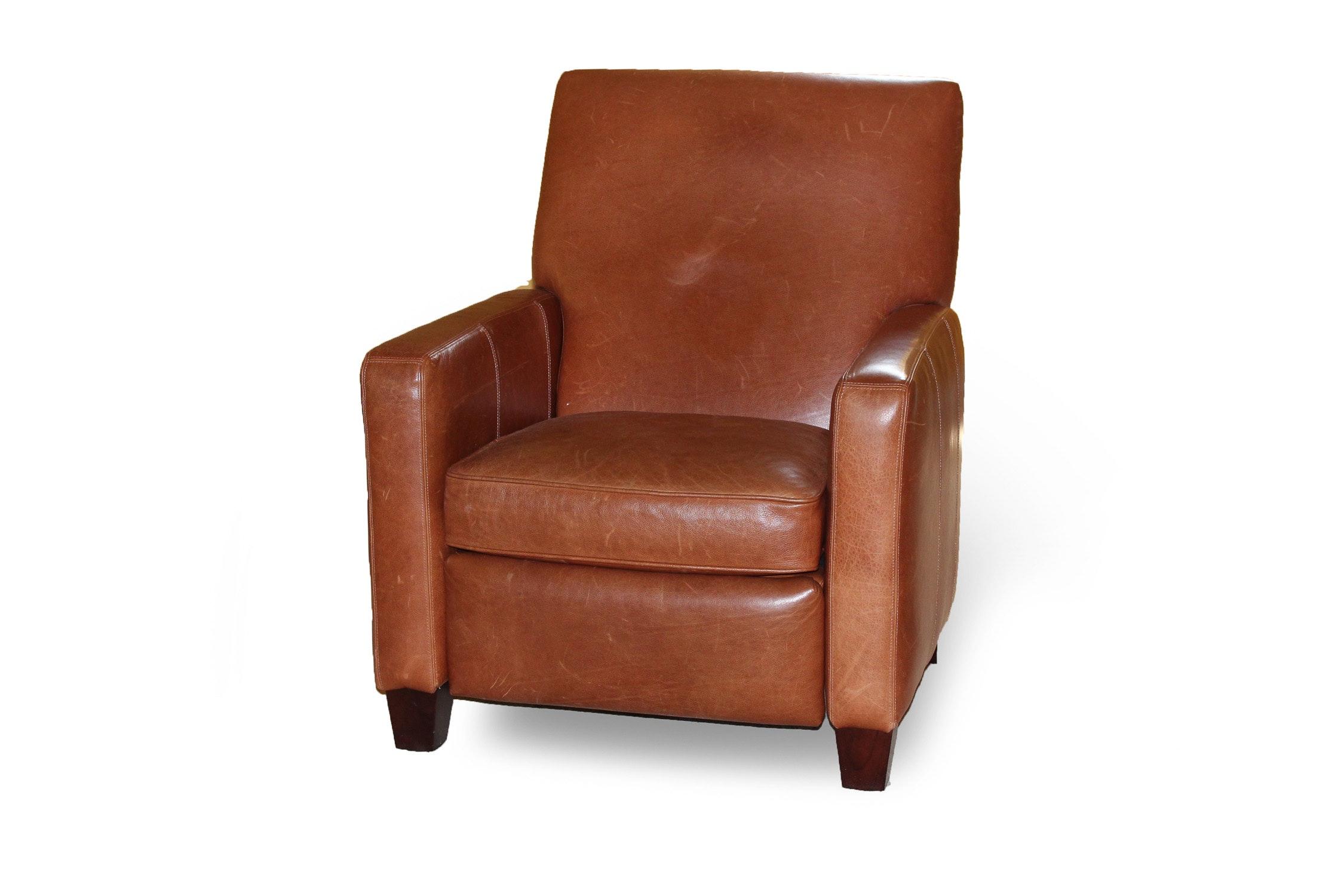 Gentil Barcalounger Cognac Leather Recliner ...