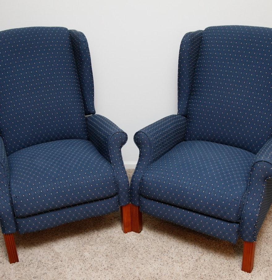 lazy boy wingback recliner pair ebth. Black Bedroom Furniture Sets. Home Design Ideas