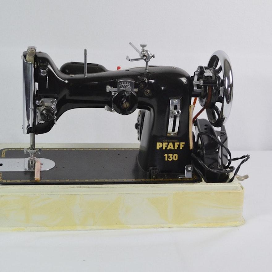 Vintage Pfaff 40 Sewing Machine With Case EBTH Custom Pfaff Sewing Machine Model 130