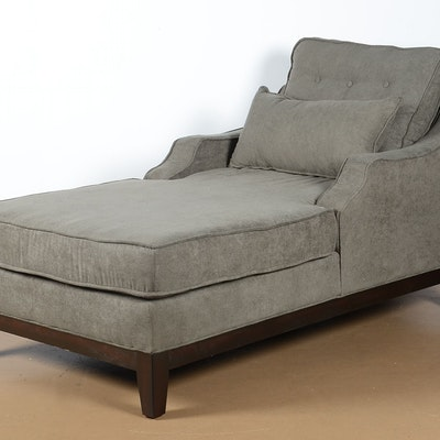 Nashville tennessee personal property sale 15nas053 ebth for Black microfiber chaise lounge