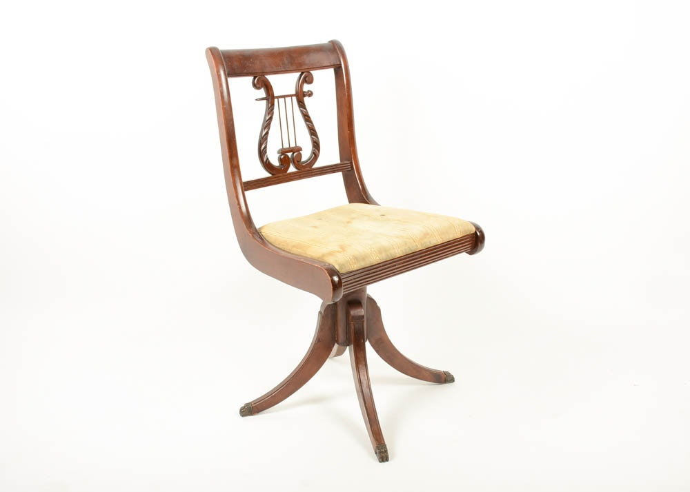 Duncan Phyfe Style Lyre Back Chair ...