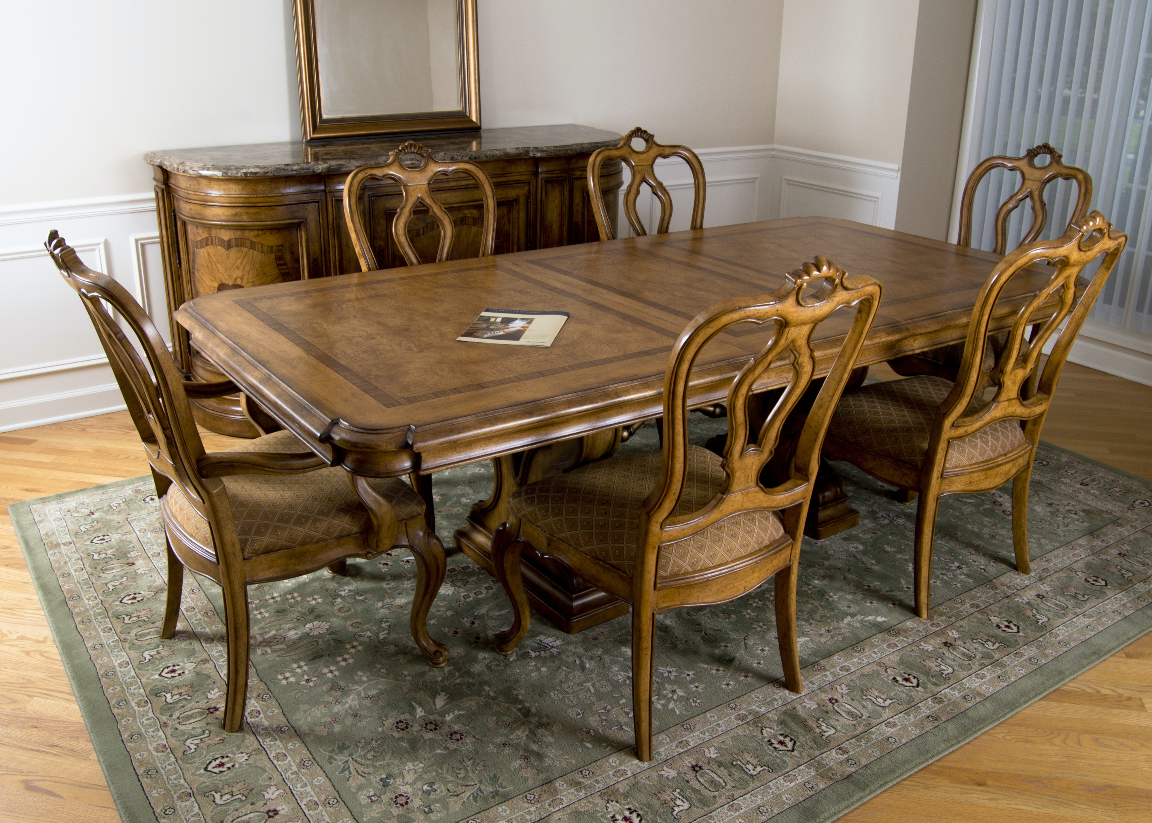 Thomasville Bibbiano Trestle Dining Table and Six Chairs  : untitled 244jpgixlibrb 11 from www.ebth.com size 880 x 906 jpeg 203kB