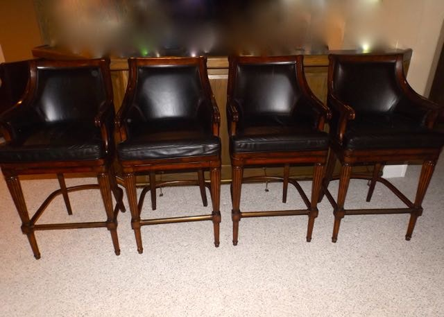 Frontgate Leather Barstools