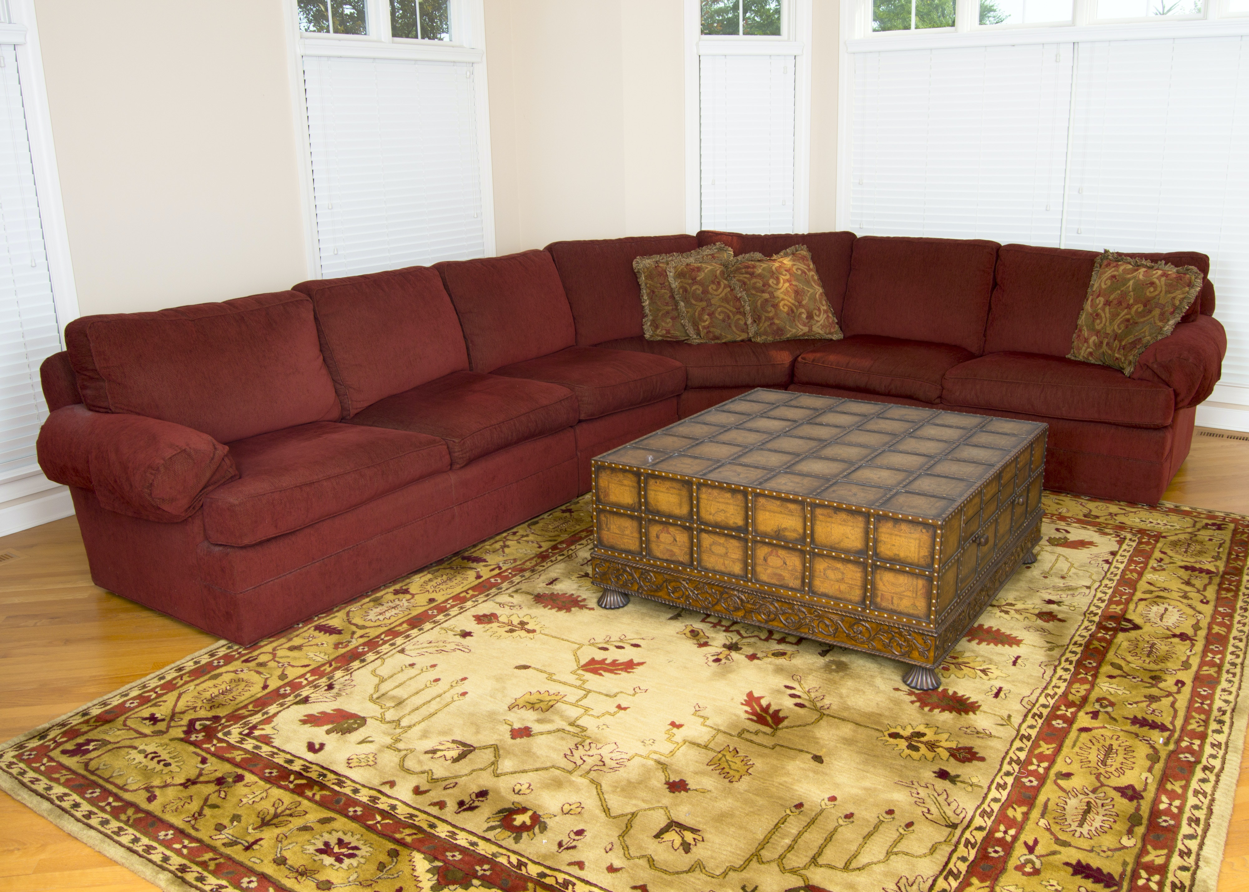 Thomasville York Bay Burgundy Sectional Sofa ...