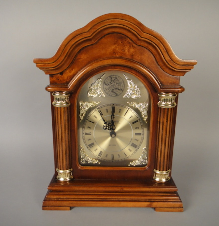 Tempus fugit westminster mantel clock ebth tempus fugit westminster mantel clock amipublicfo Image collections