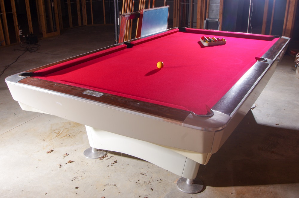 Vintage Professional Brunswick Billiard Table With Score Counter ...