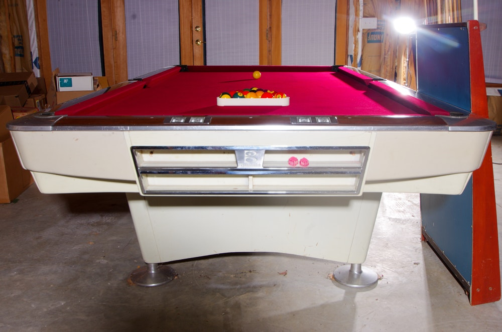 Vintage Professional Brunswick Billiard Table With Score