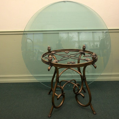 Southwest florida showroom sale 15swf013 ebth for Cast iron and glass dining table