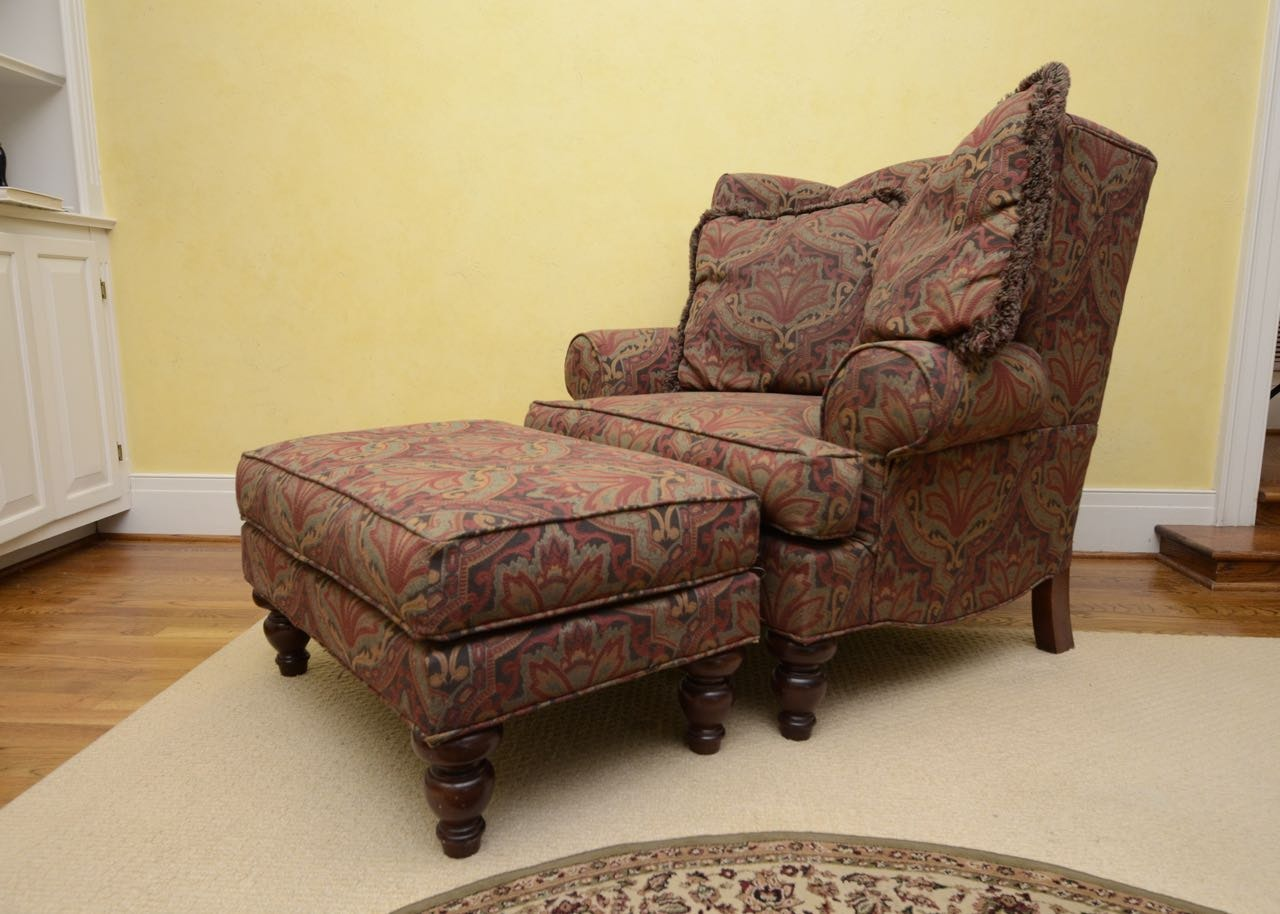 Wingback Chair And Ottoman By Hickory Hill ...