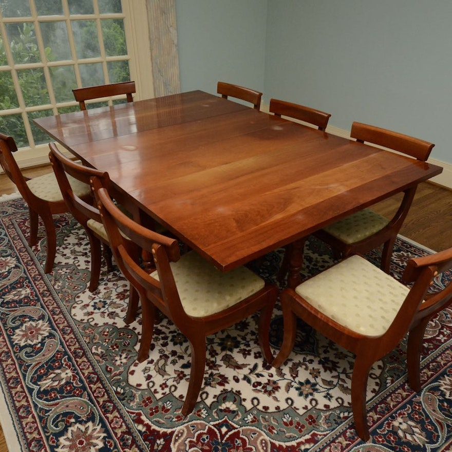 Cherry Table And Chairs: Vintage Cherry Drop-Leaf Dining Table And Chairs