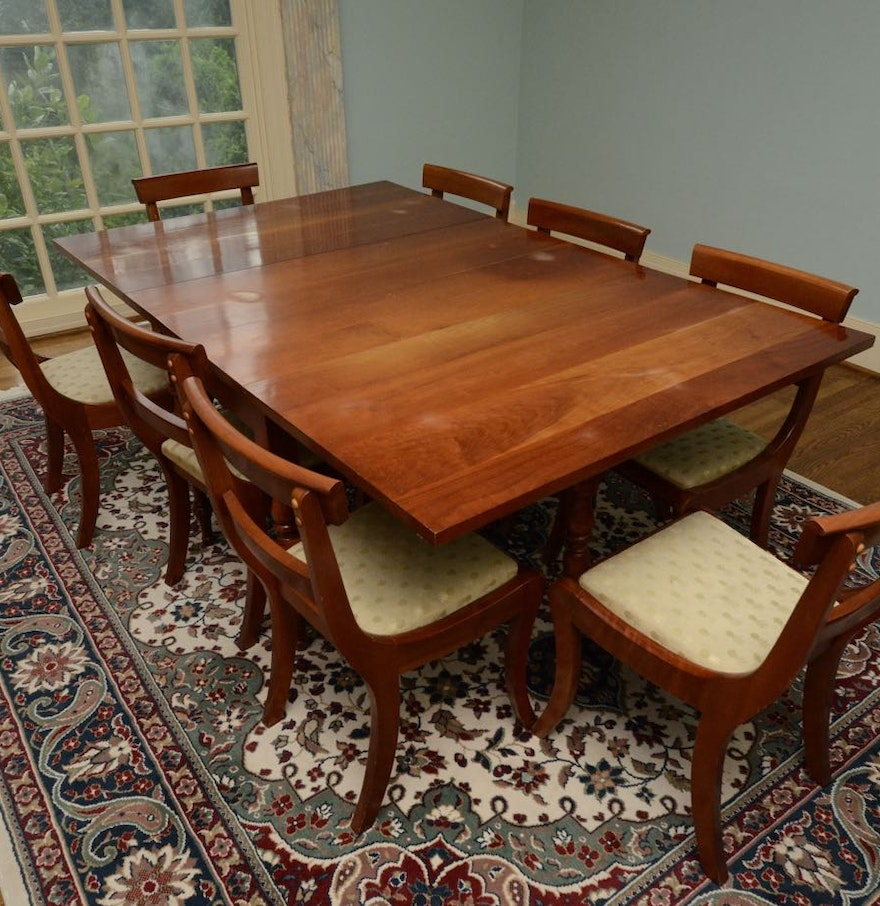 Vintage Cherry Drop-Leaf Dining Table and Chairs : EBTH