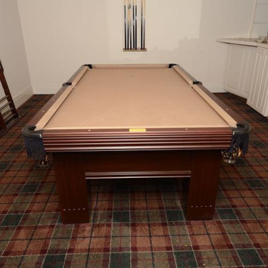 Steepleton Mahogany Pool Table With Score Keeper EBTH - Pool table scorekeeper