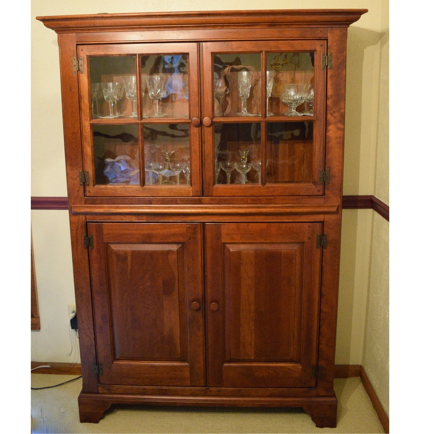 Bob Timberlake Wooden China Cabinet - Vintage And Antique Cabinets Auction In Union, Kentucky Personal