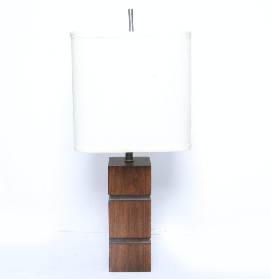 Contemporary mahogany table lamp ebth contemporary mahogany table lamp geotapseo Choice Image