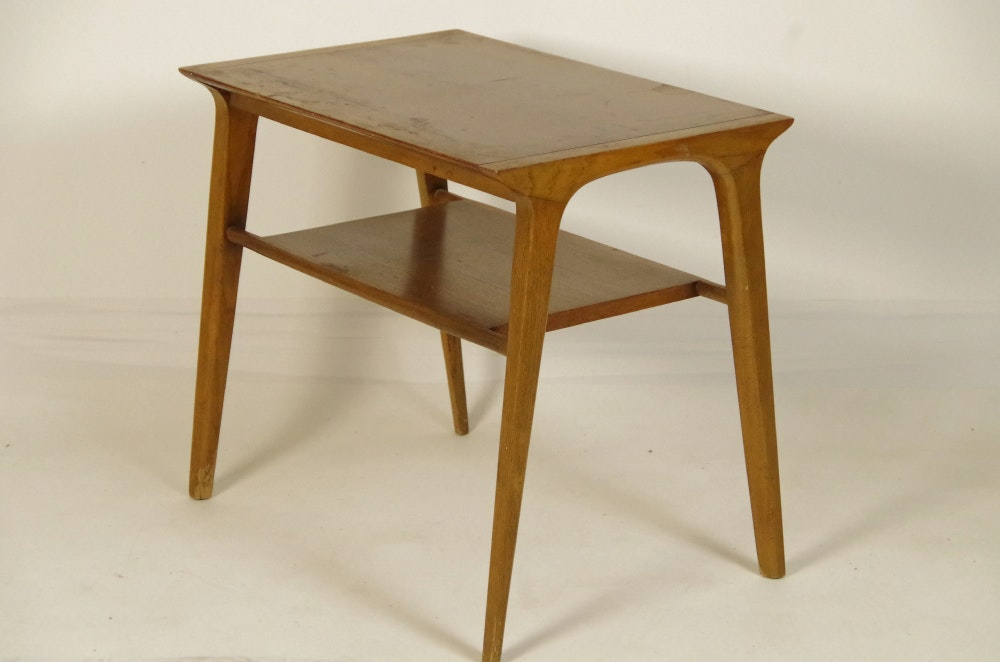 drexel mid century modern end table