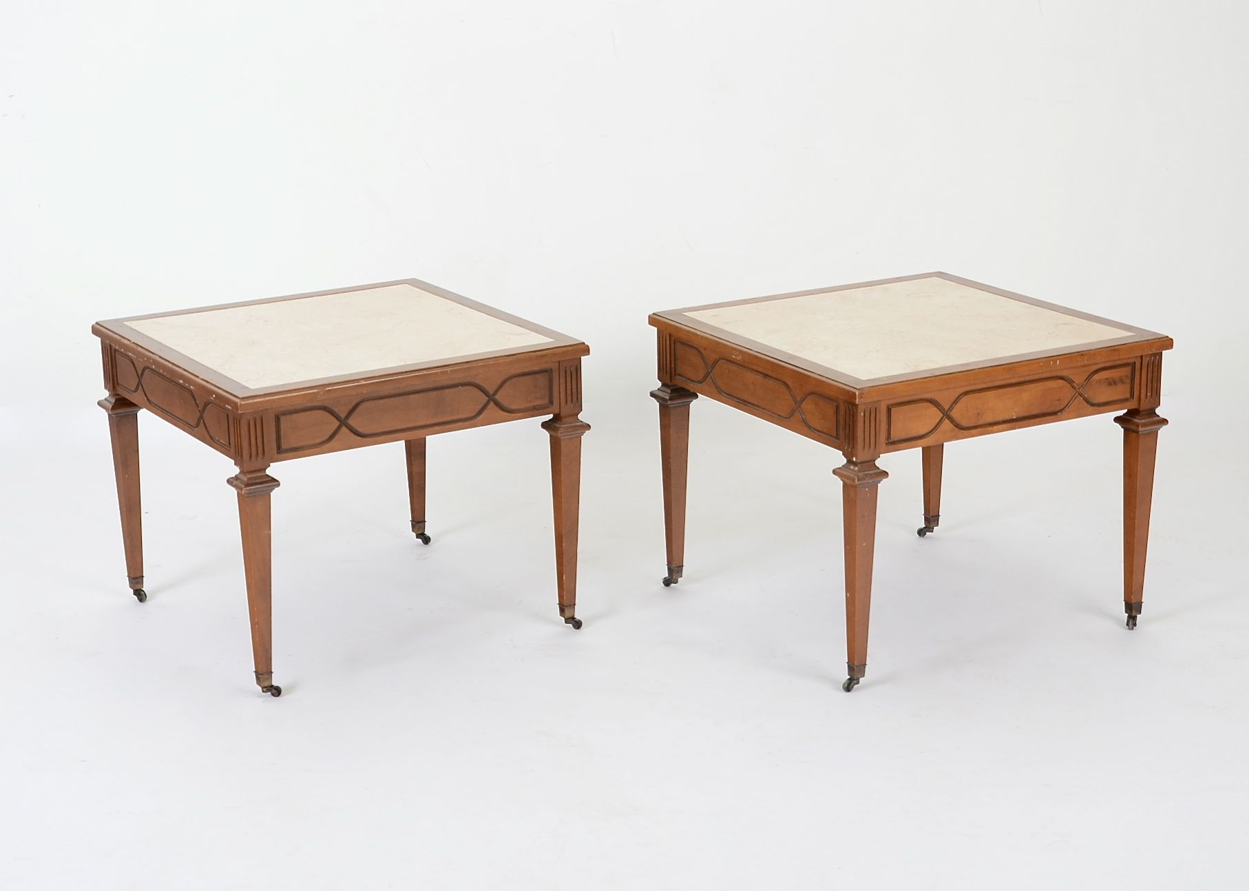Pair of Square Vintage Mersman End Tables EBTH