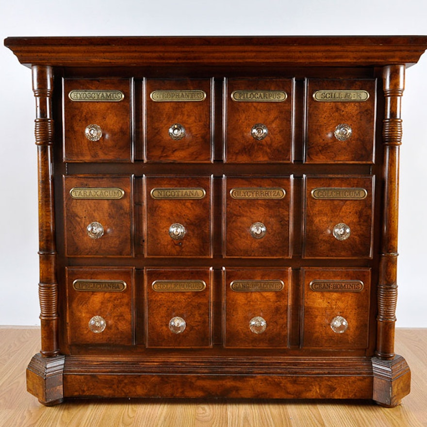 Reproduction Apothecary Chest of Drawers - Online Furniture Auctions Vintage Furniture Auction Antique