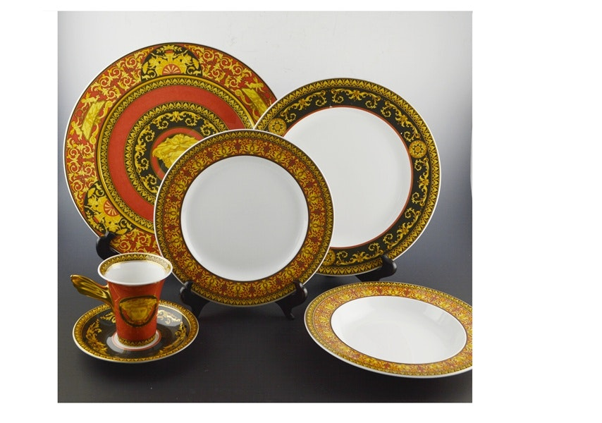 Rosenthal China Versace u0027Medusau0027 Dinnerware Set ...  sc 1 st  EBTH.com & Rosenthal China Versace u0027Medusau0027 Dinnerware Set of Nine : EBTH