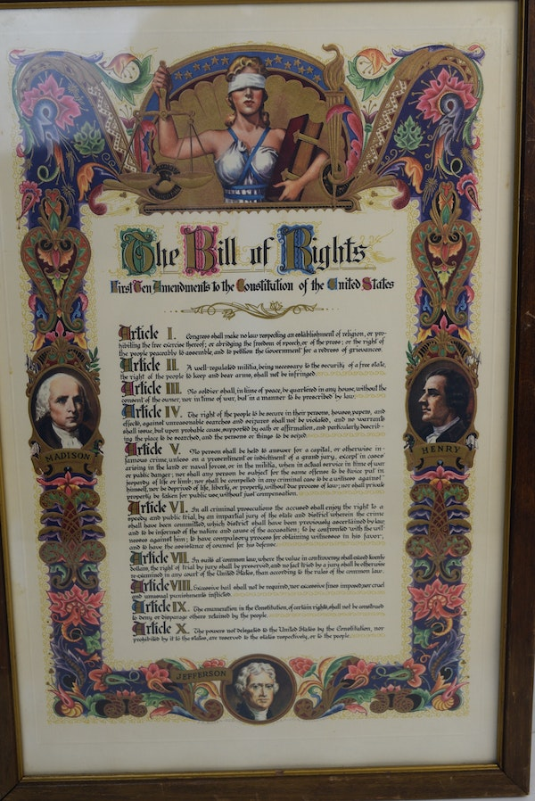 It's just a picture of Shocking Printable Copy of the Bill of Rights