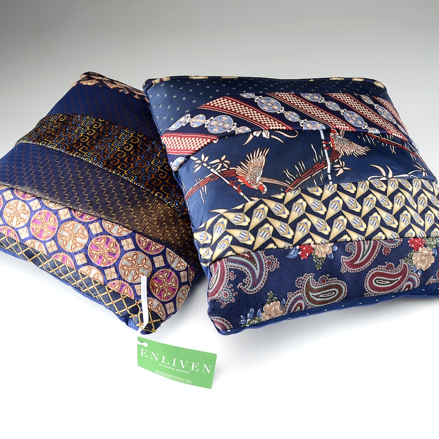 Two Artisan Made Accent Pillows by Kristin Dehmer