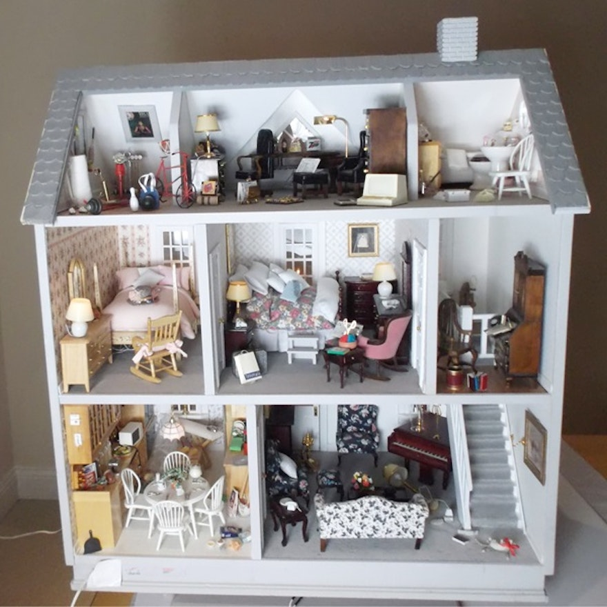 Marvelous Fully Furnished Dollhouse Ebth Wiring 101 Ferenstreekradiomeanderfmnl