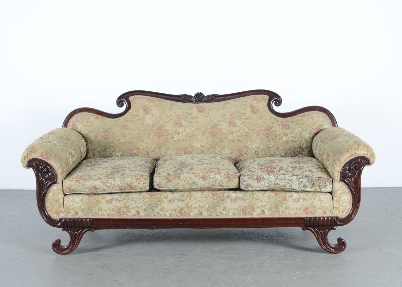 Vintage Victorian Style Parlor Sofa