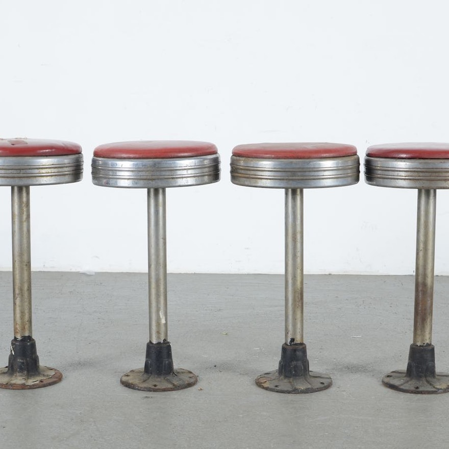 Miraculous Four Retro Soda Fountain Stools Alphanode Cool Chair Designs And Ideas Alphanodeonline