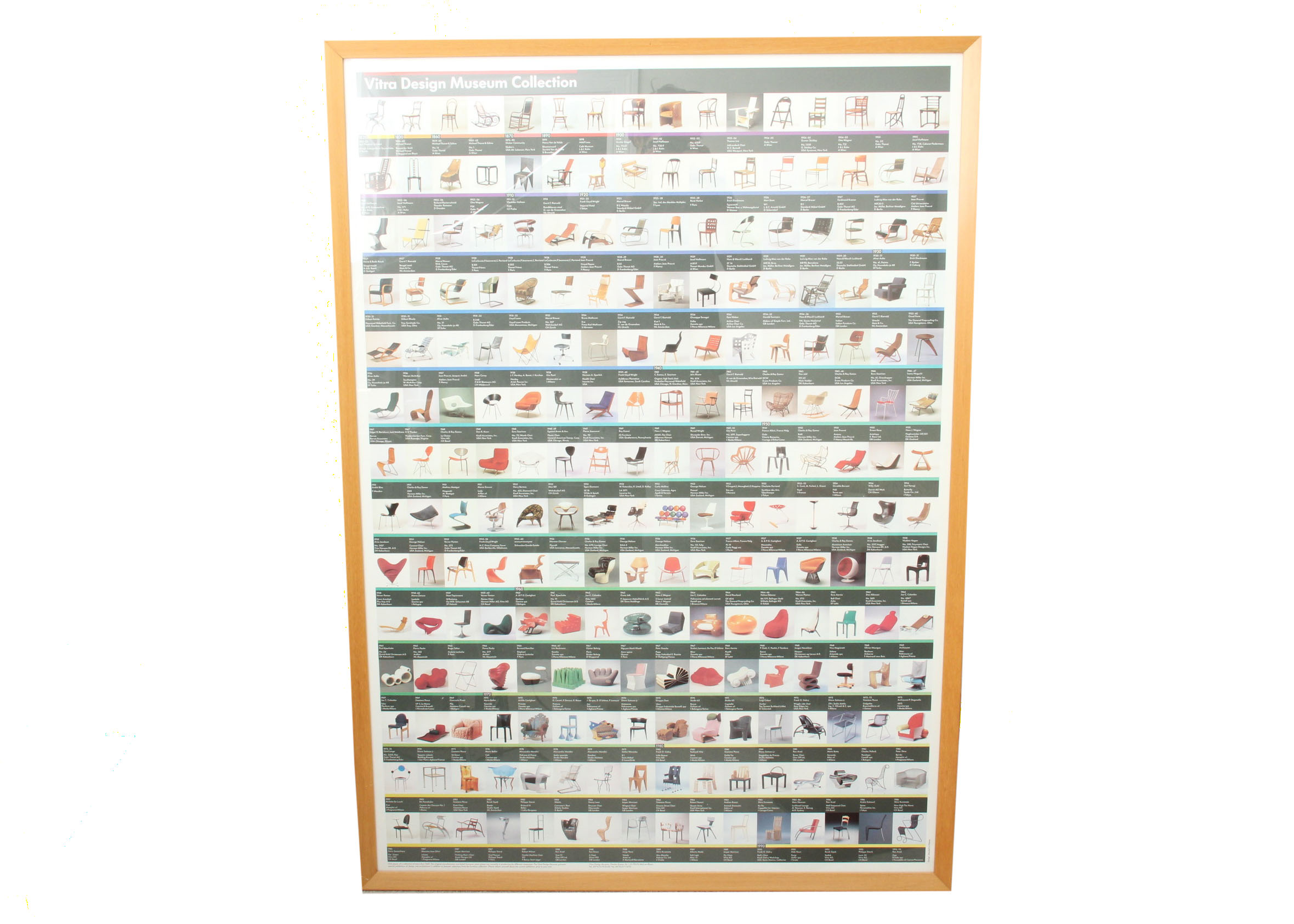Vitra Design Museum Chair Collection Poster EBTH