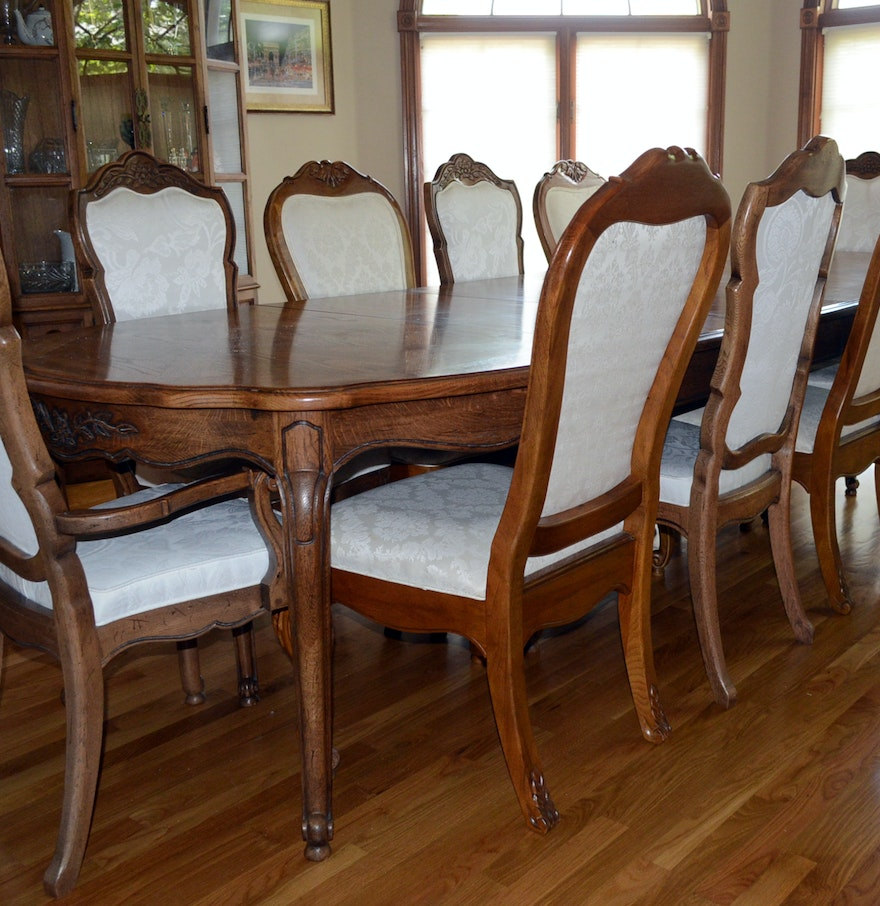 Thomasville French Provincial Style Dining Table and ...