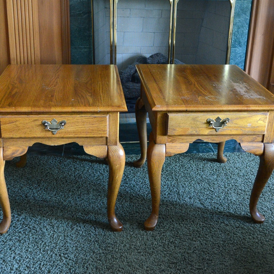 Broyhill Queen Anne Style End Tables
