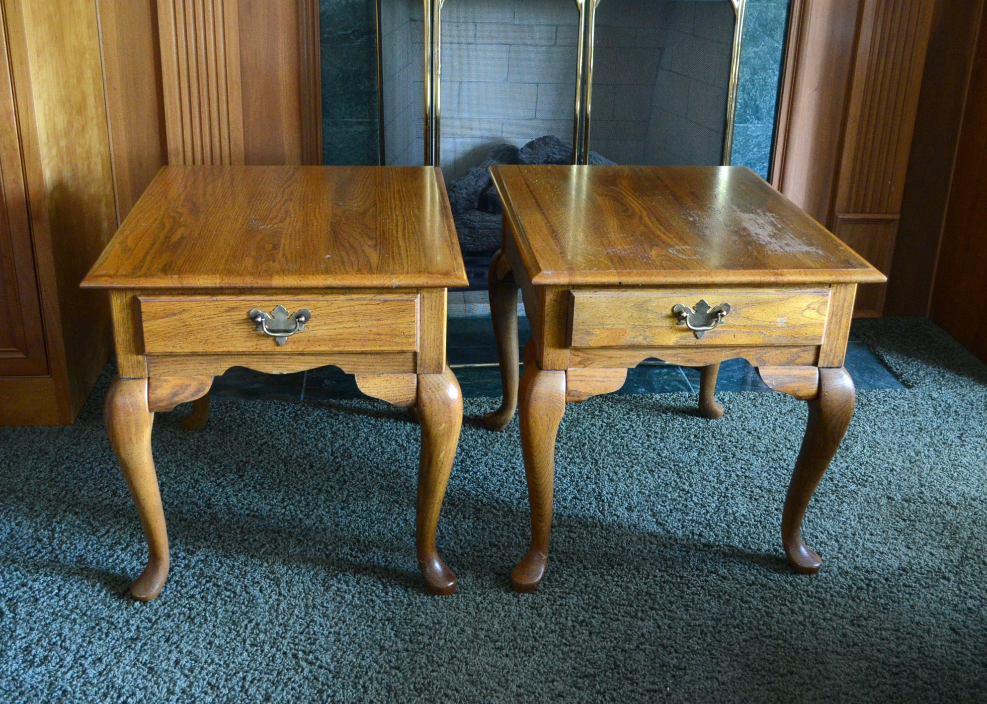 Broyhill Queen Anne Style End Tables ...