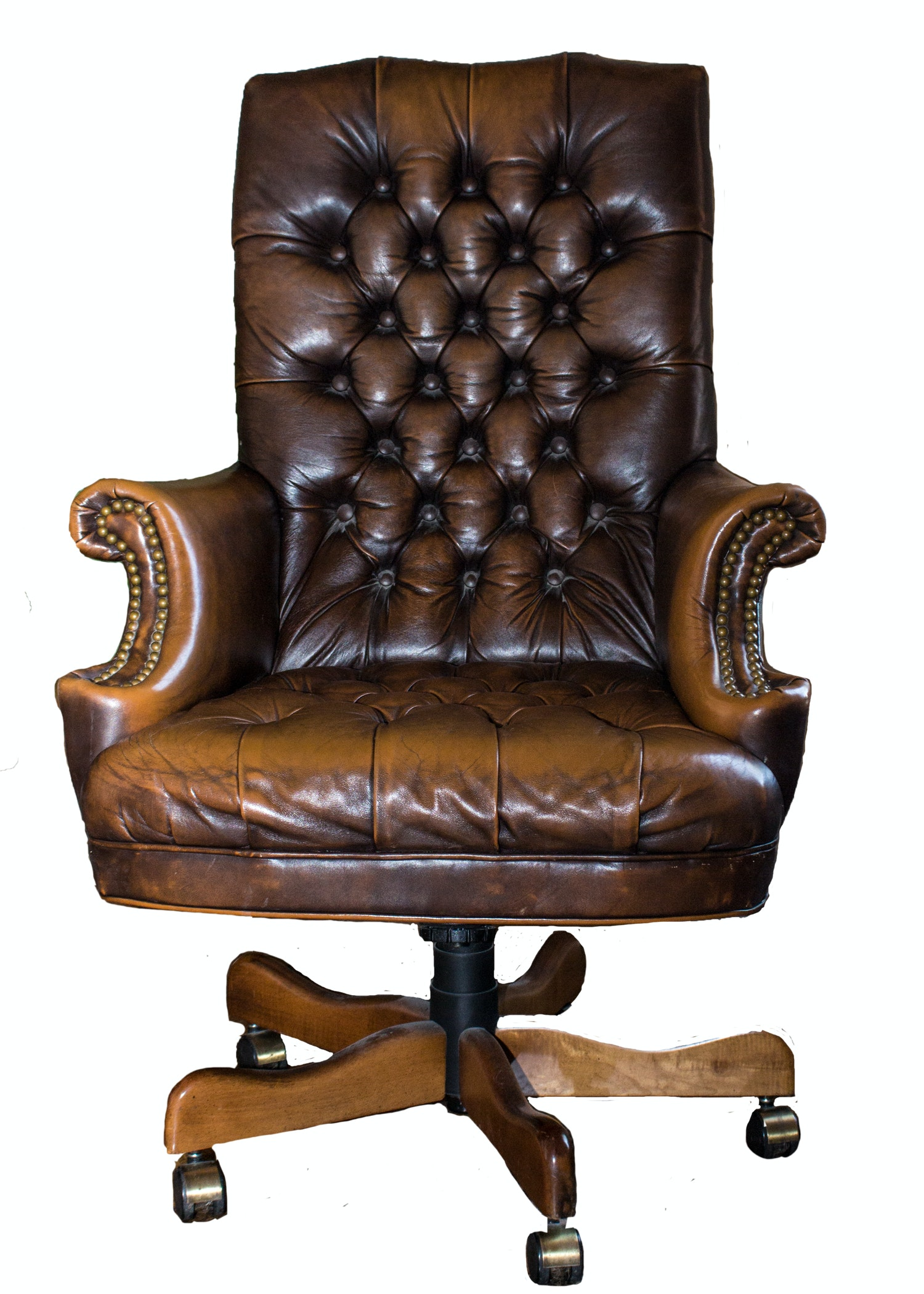 Ralph Lauren Leather Tufted Executive Desk Chair ...
