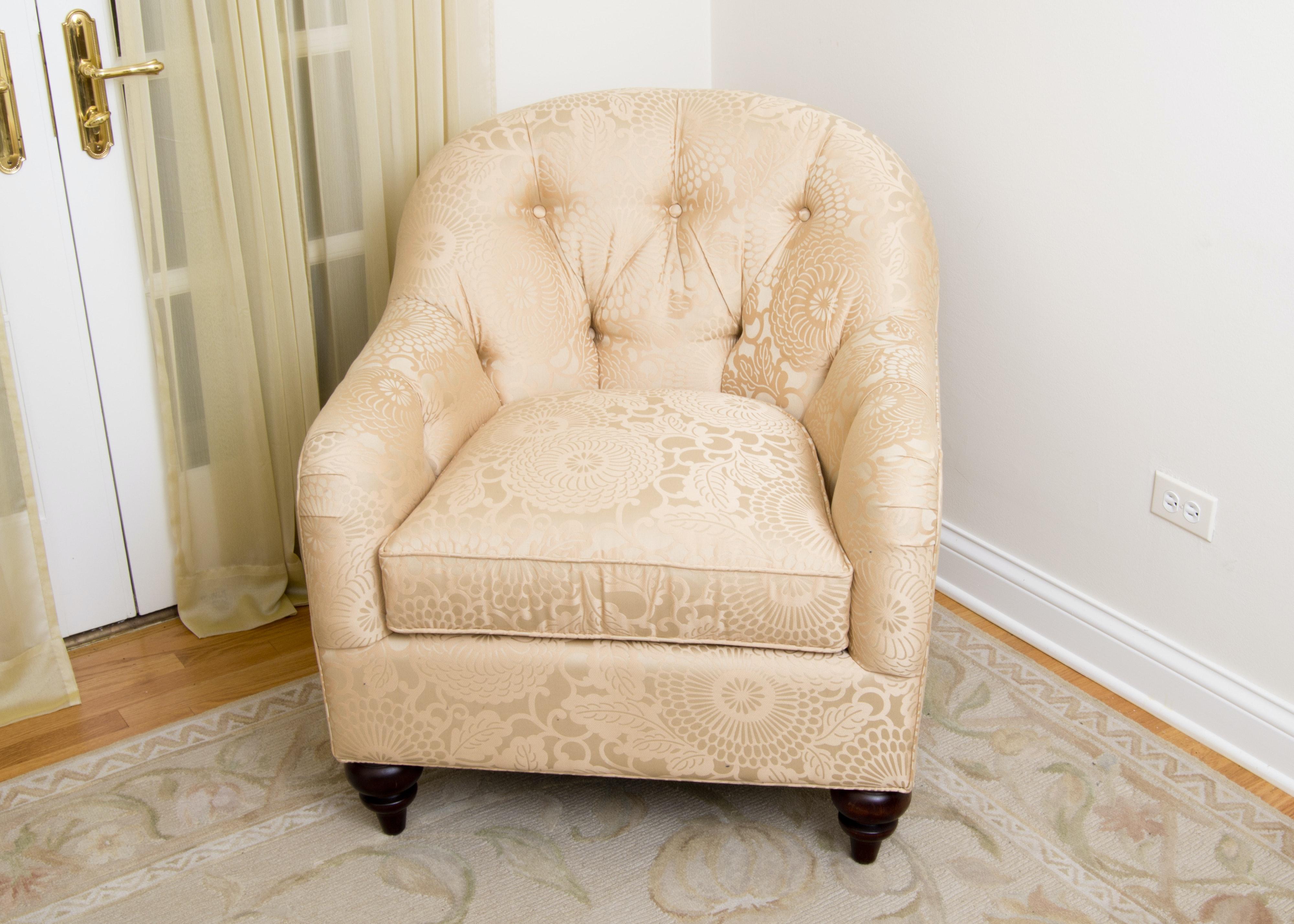 Bassett Tufted Barrel Back Chair ...