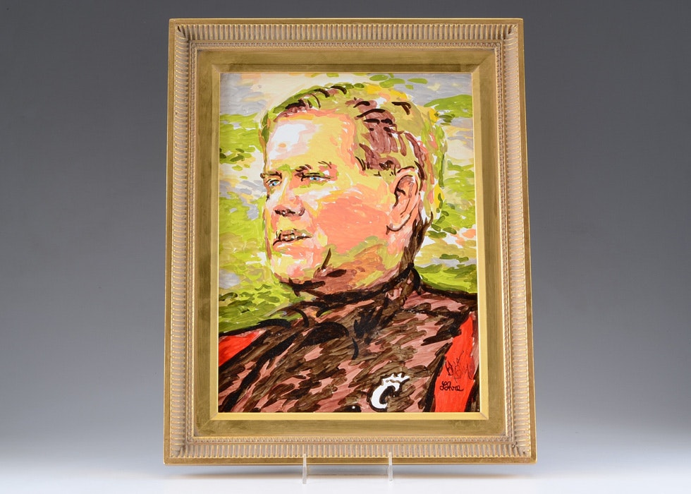 Oil on Canvas Portrait of Brian Kelly by Tom Lohre