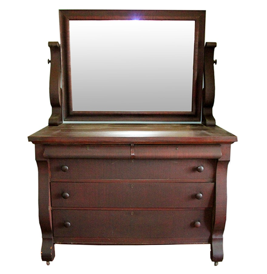 Antique mahogany dresser with mirror bestdressers 2017 for American empire bedroom furniture