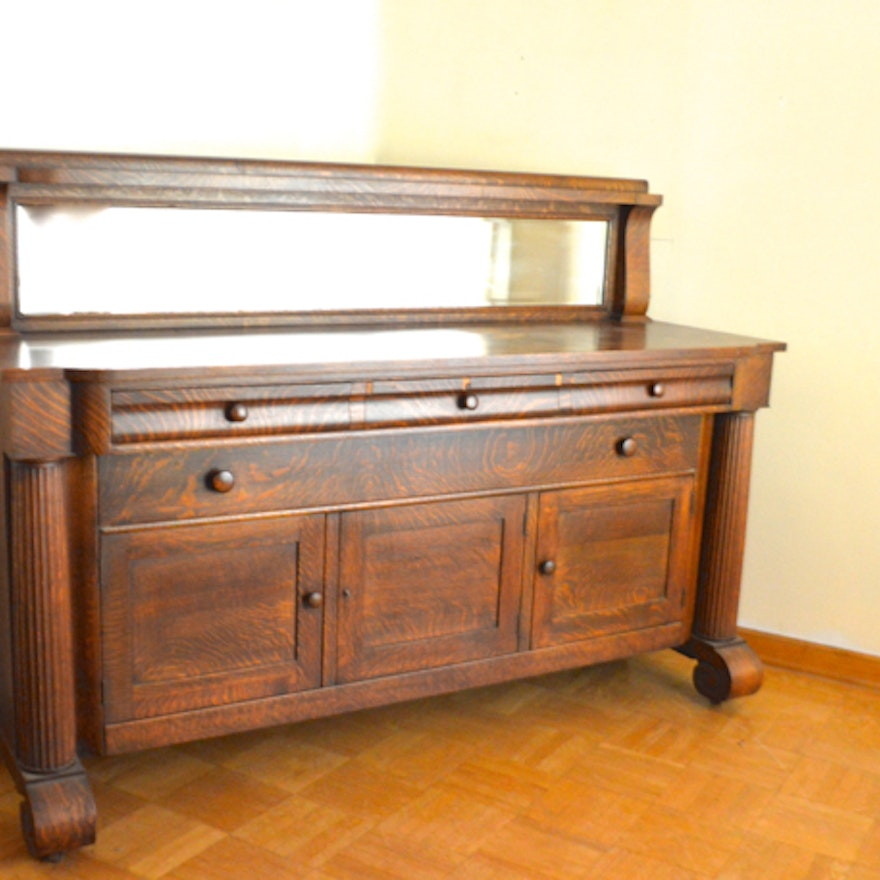 Antique Fancy Furniture Empire Buffet ... - Antique Fancy Furniture Empire Buffet : EBTH