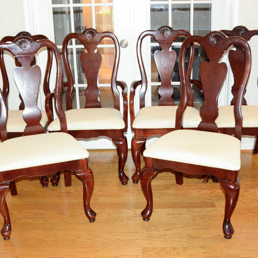 Set Of Queen Anne Dining Room Chairs EBTH