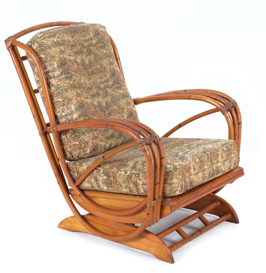 Heywood Wakefield Bamboo Rocking Chair Ebth