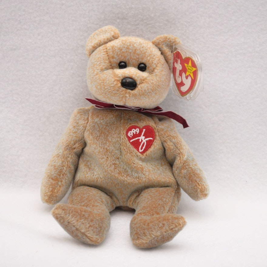 Ty Beanie Baby 1999 Signature Bear with a Misspelling   EBTH a7a44cf294