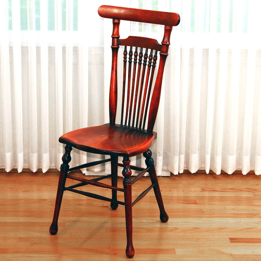 Antique Spindle Back Side Chair ... - Antique Spindle Back Side Chair : EBTH