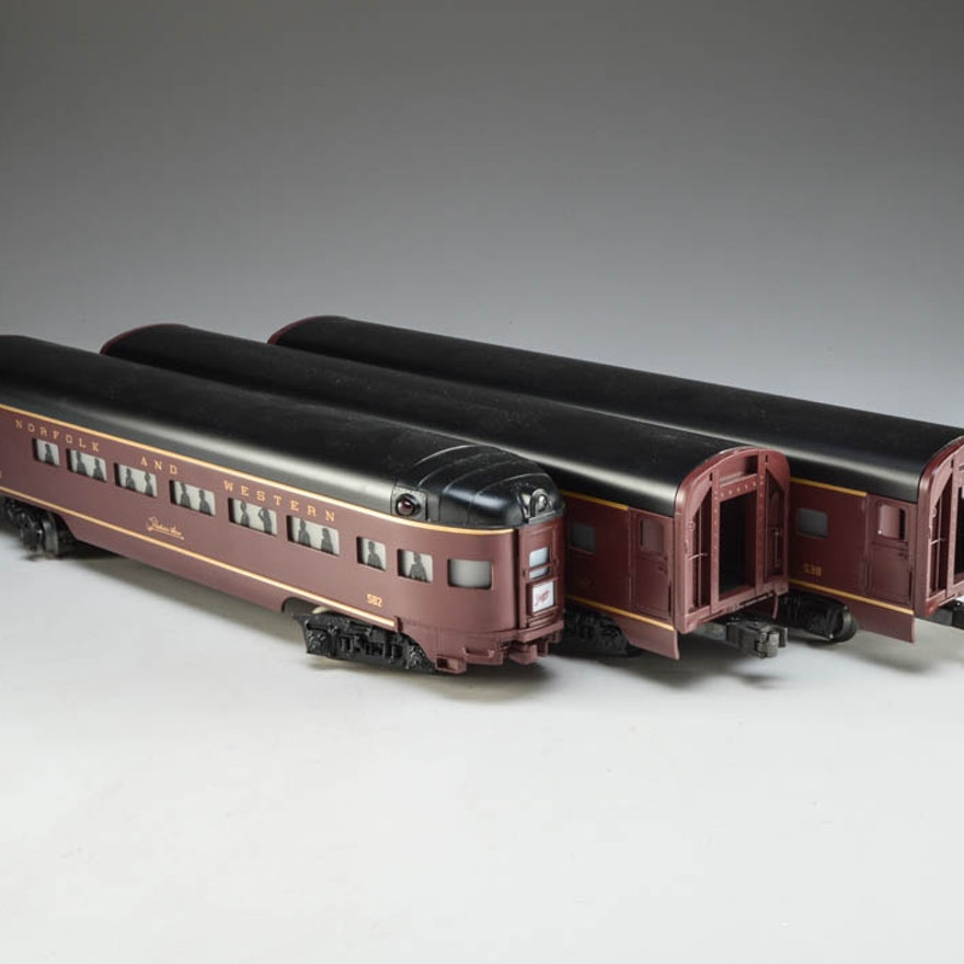 Lionel O Scale Train Aluminum Powhatan Passenger Cars Ebth