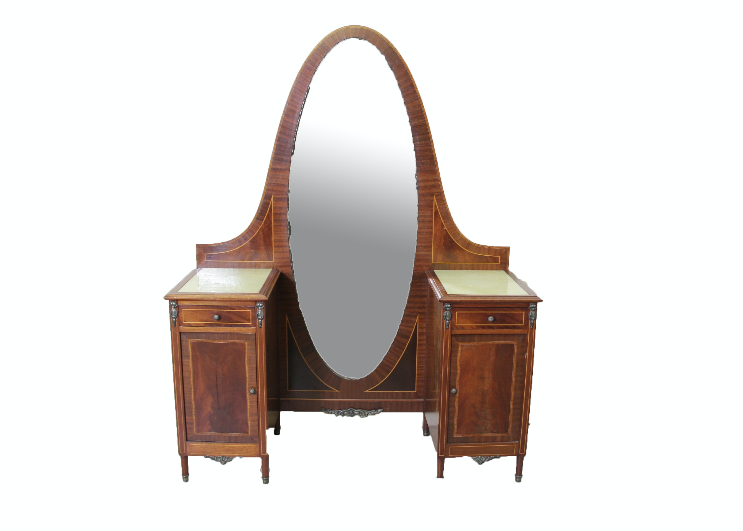 Antique Dressing Table With Mirror ...