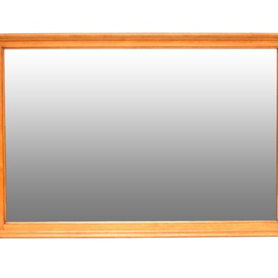 Maple Wood Framed Mirror. Online Furniture Auctions   Vintage Furniture Auction   Antique