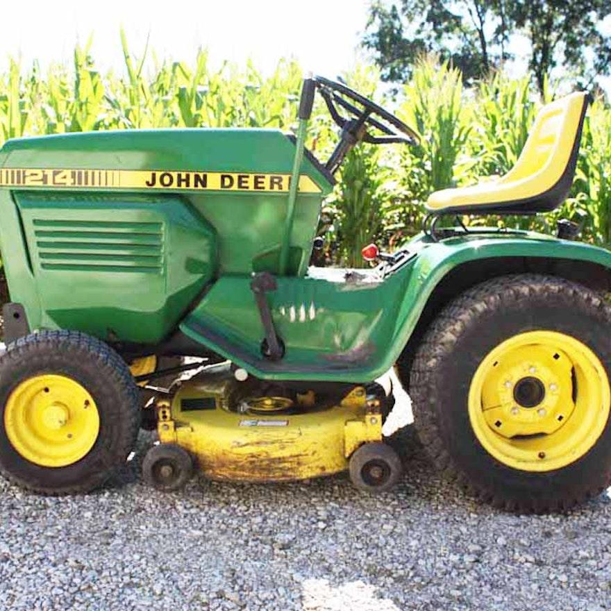 John Deere 214 >> John Deere 214 Lawn And Garden Tractor Ebth